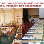 Räume für Feiern, Tagungen und Konferenzen