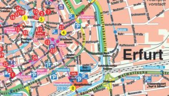 Stadtplan Erfurt