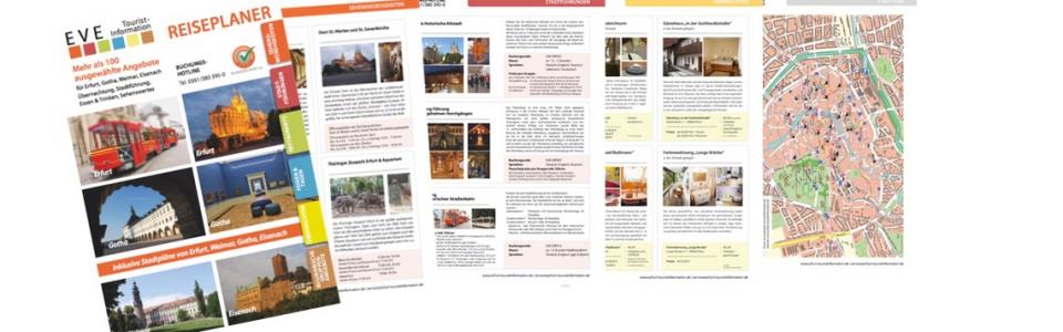 Reiseplaner Erfurt – Teaser, Infomaterial Erfurt bestellen