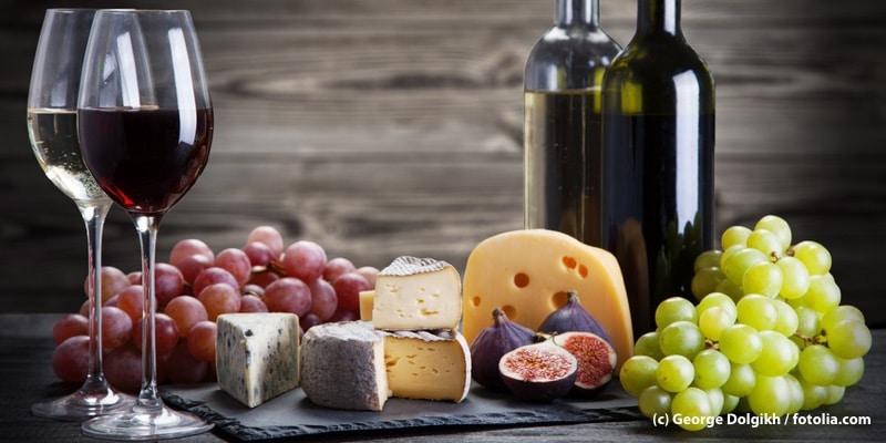 Wein und Käseabend