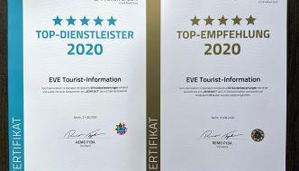 EVE Touristinformation Auszeichnung